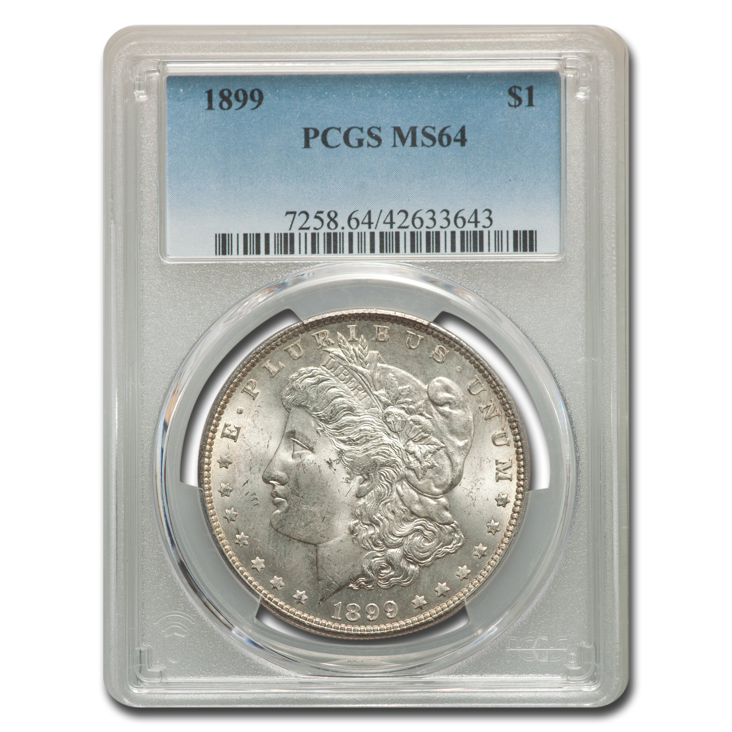 1899 Morgan Dollar MS-64 PCGS