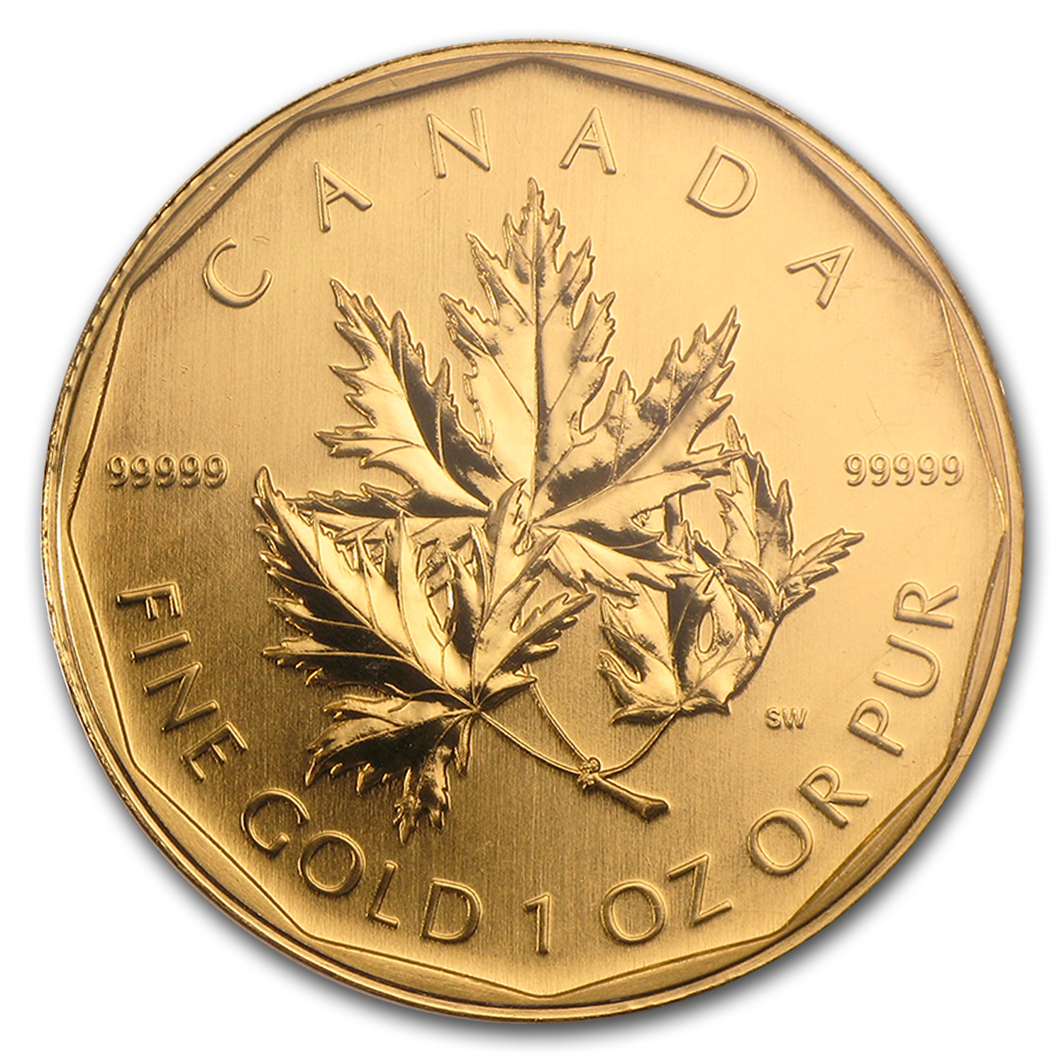 2007 1 oz Gold Canadian Maple Leaf .99999 BU (w/Assay Card)
