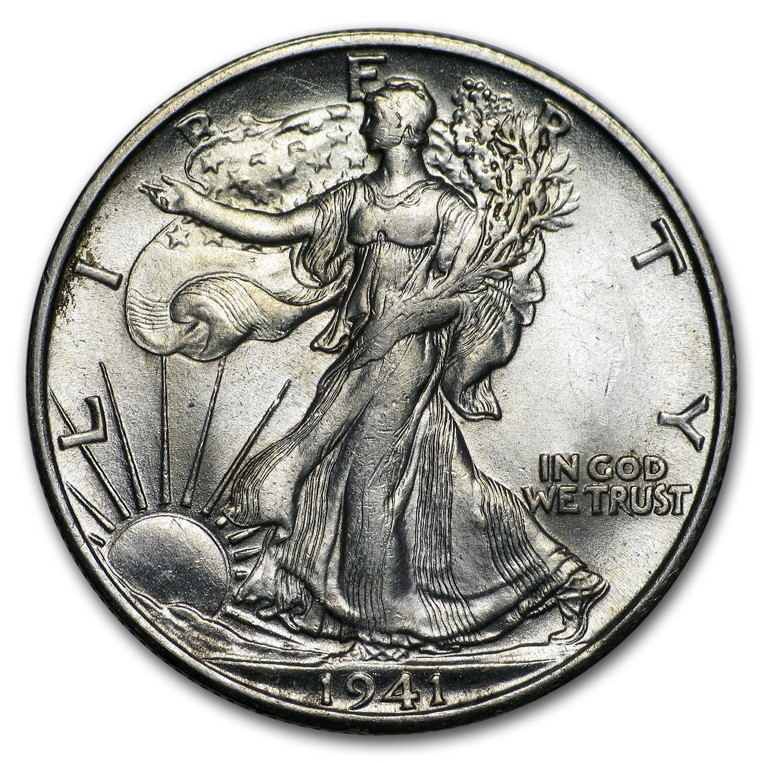 1941-S Walking Liberty Half Dollar BU