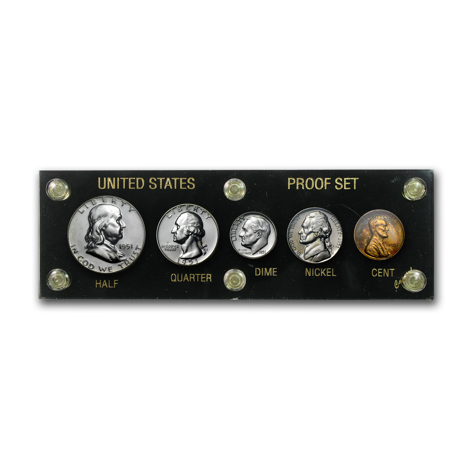 1951 U.S. Proof Set (In Hard Capital Plastic Holder)