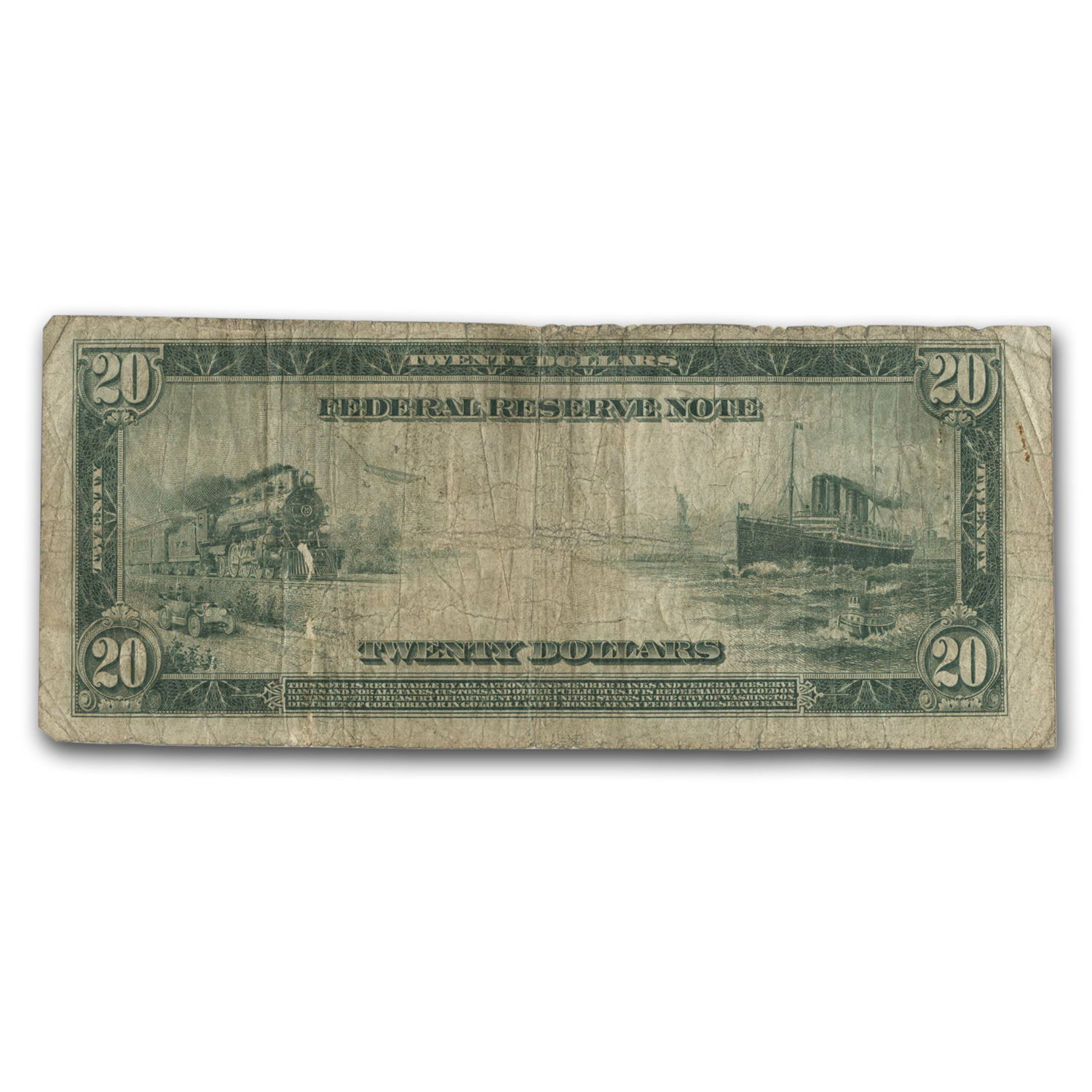 1914 (L-San Francisco) $20 FRN VG