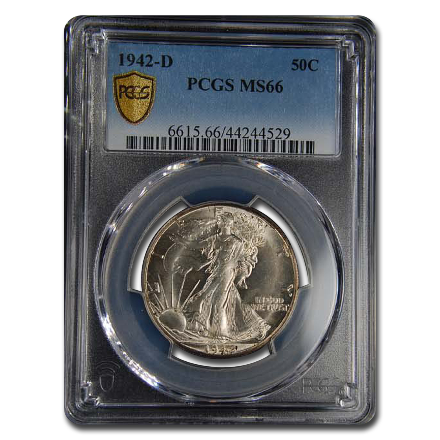 1942-D Walking Liberty Half Dollar MS-66 PCGS