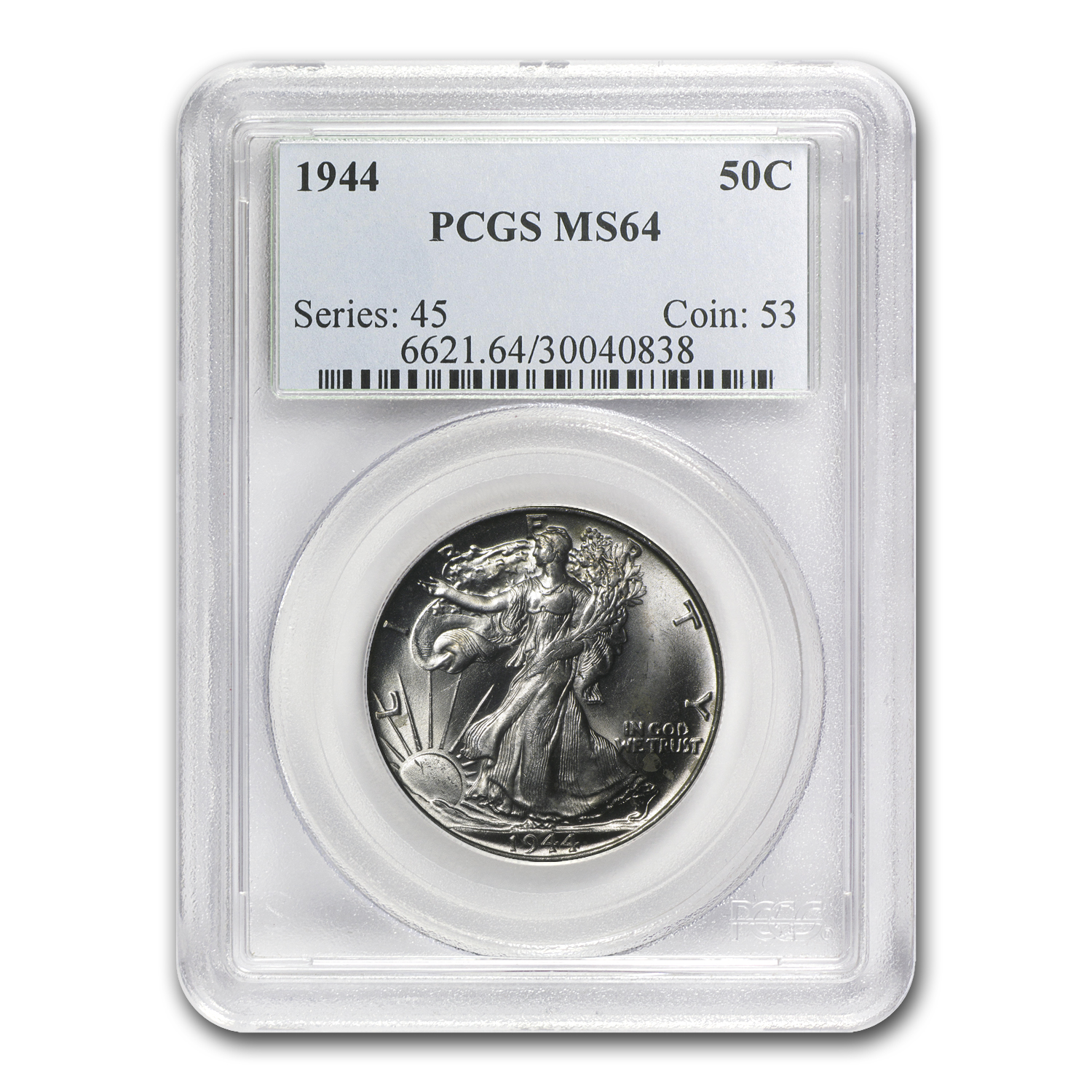1944 Walking Liberty Half Dollar MS-64 PCGS