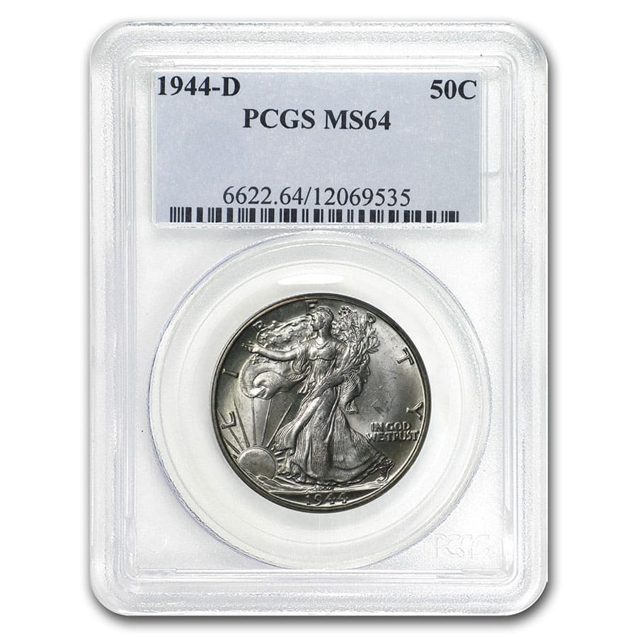 1944-D Walking Liberty Half Dollar MS-64 PCGS