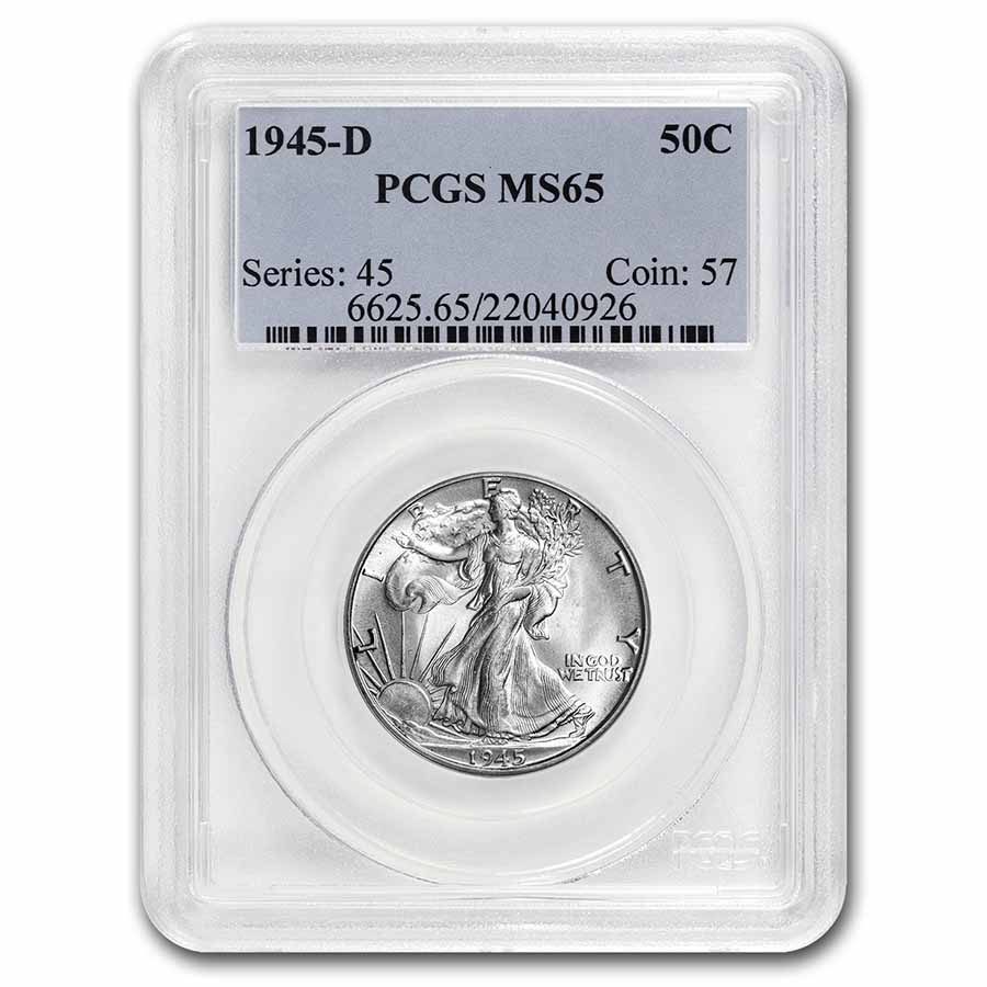 1945-D Walking Liberty Half Dollar MS-65 PCGS