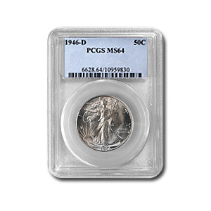 1946-D Walking Liberty Half Dollar MS-64 PCGS
