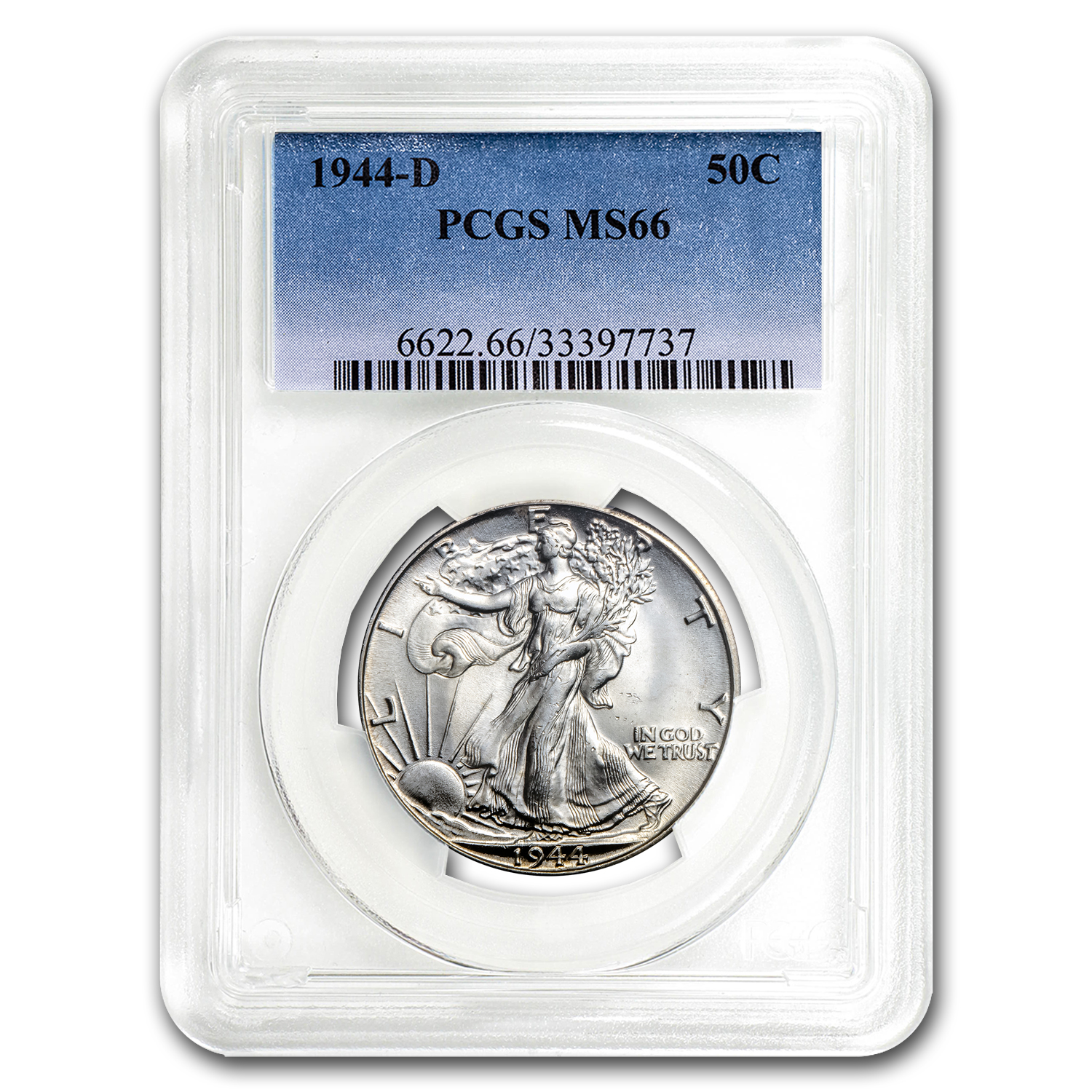 1944-D Walking Liberty Half Dollar MS-66 PCGS