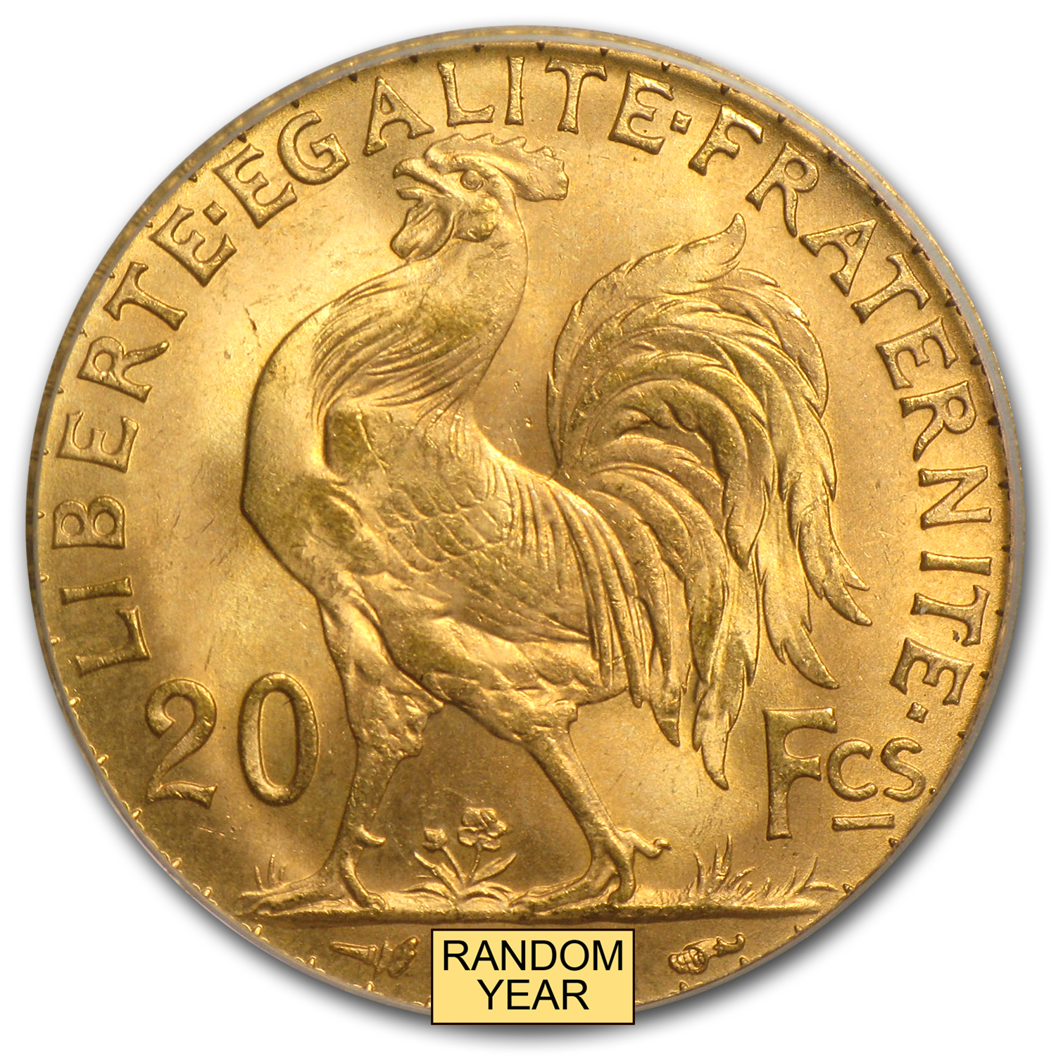 France Gold 20 Francs (Rooster) (NGC/PCGS MS-65)