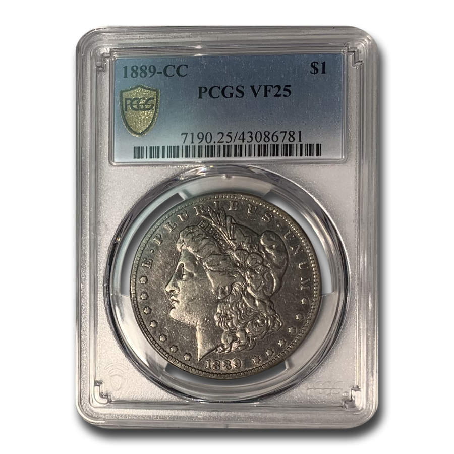 1889-CC Morgan Dollar VF-25 PCGS