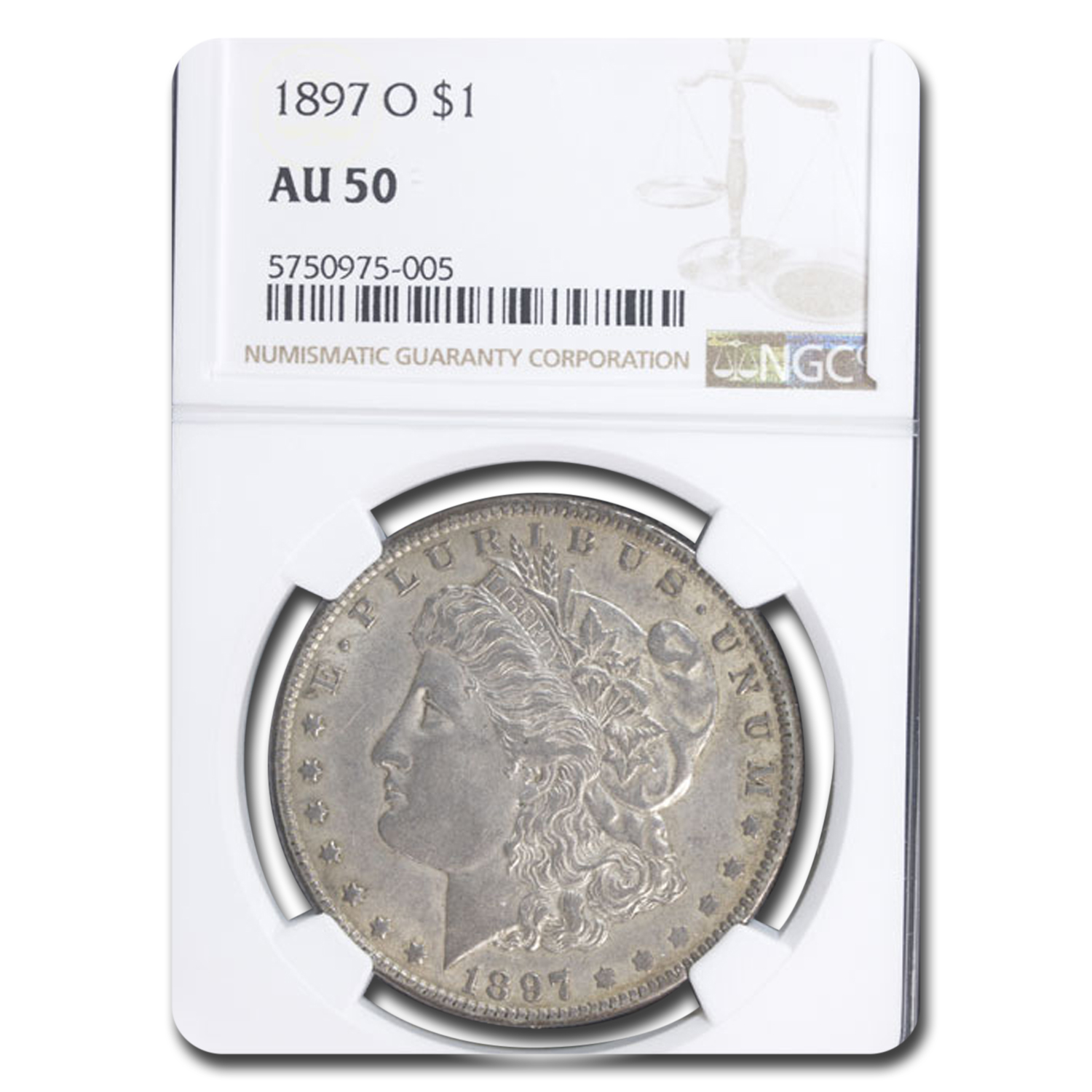 1897-O Morgan Dollar Almost Uncirculated-50 NGC