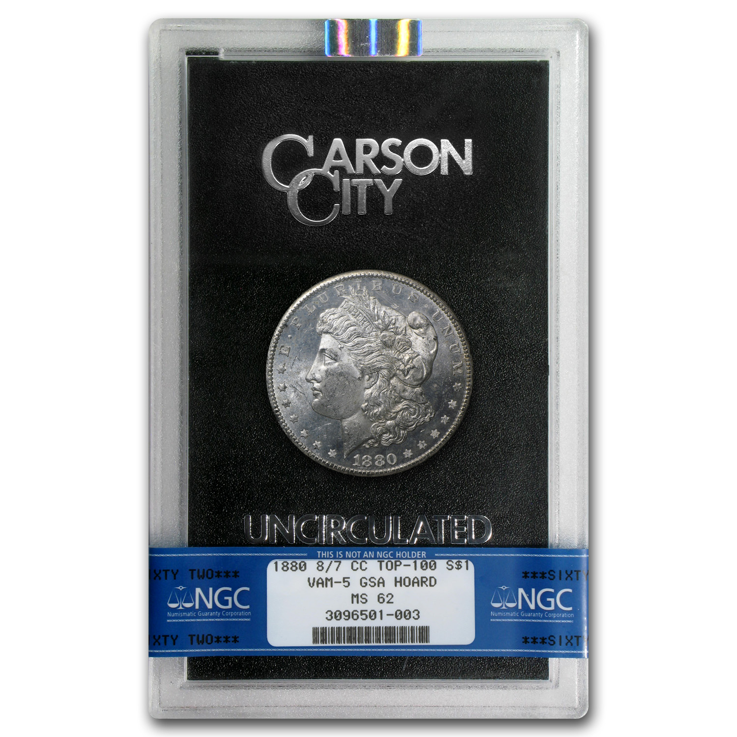1880-CC Morgan Dollar MS-62 NGC Top-100 VAM-5 - GSA Certified