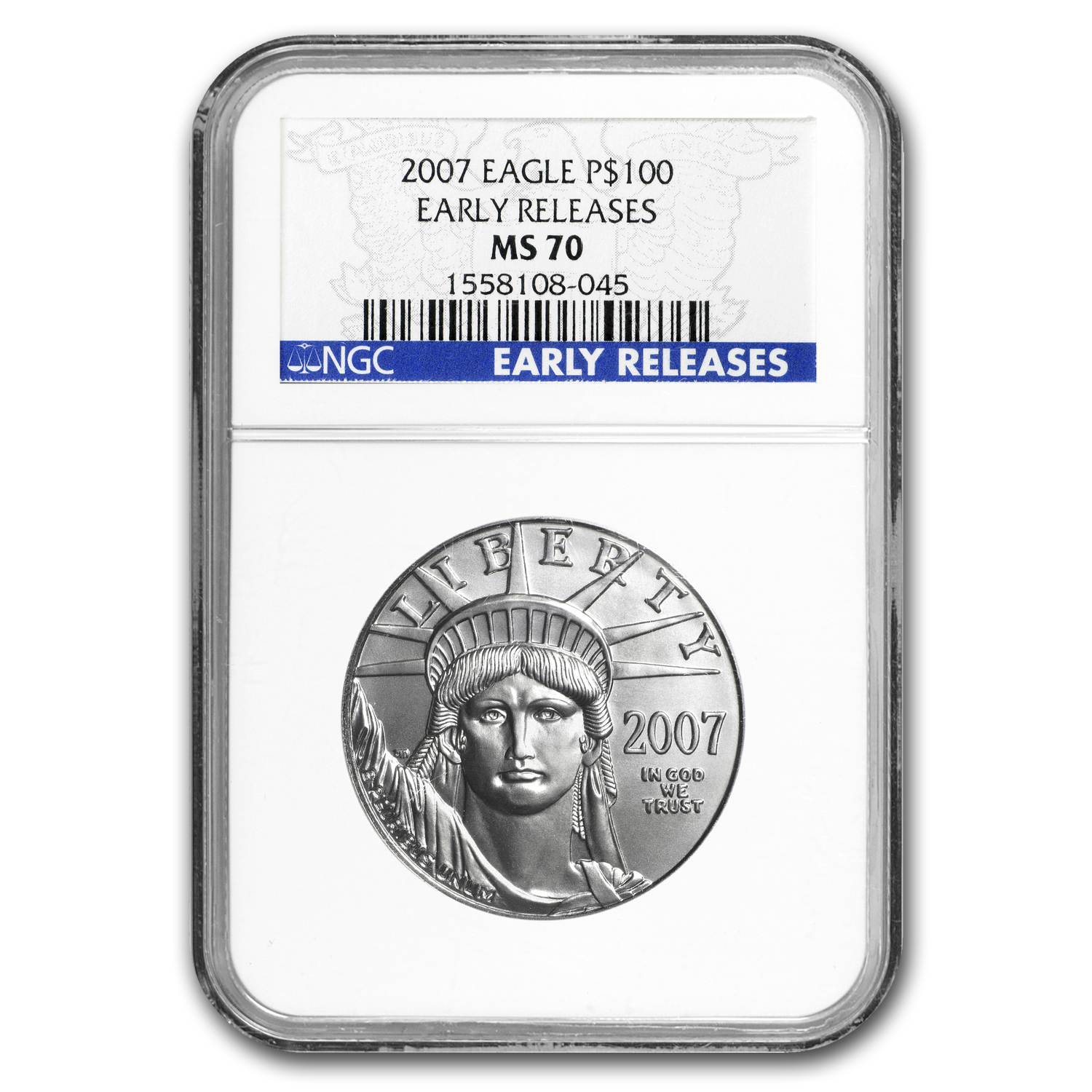 2007 1 oz Platinum American Eagle MS-70 NGC (Early Releases)