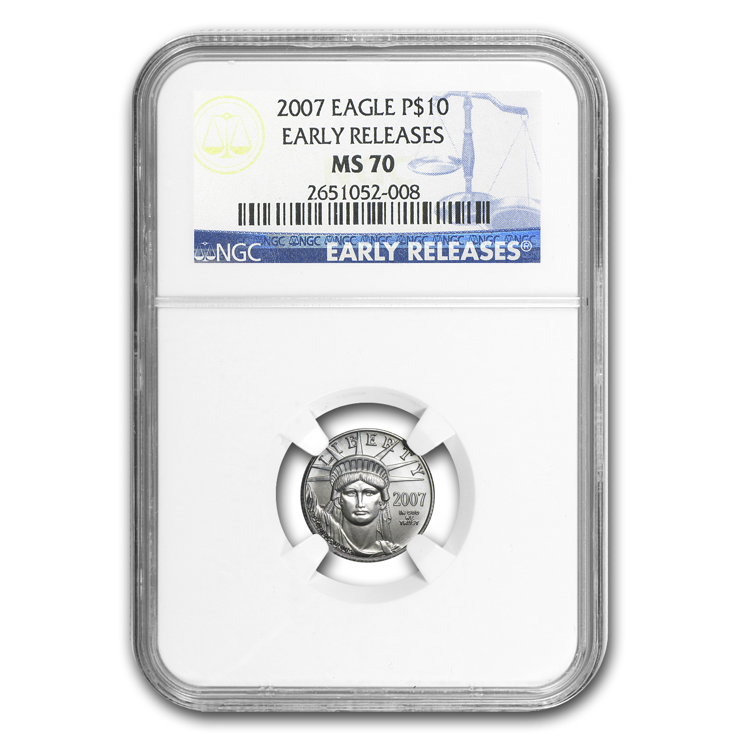 2007 1/10 oz Platinum American Eagle MS-70 NGC (Early Releases)