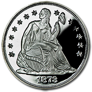 2 oz Seated Liberty Dollar (Replica) Silver Round .999 Fine