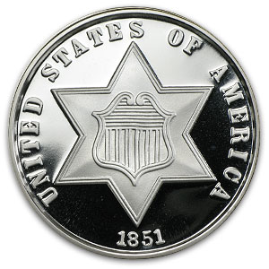 2 oz Silver Round - Three Cent (Replica)