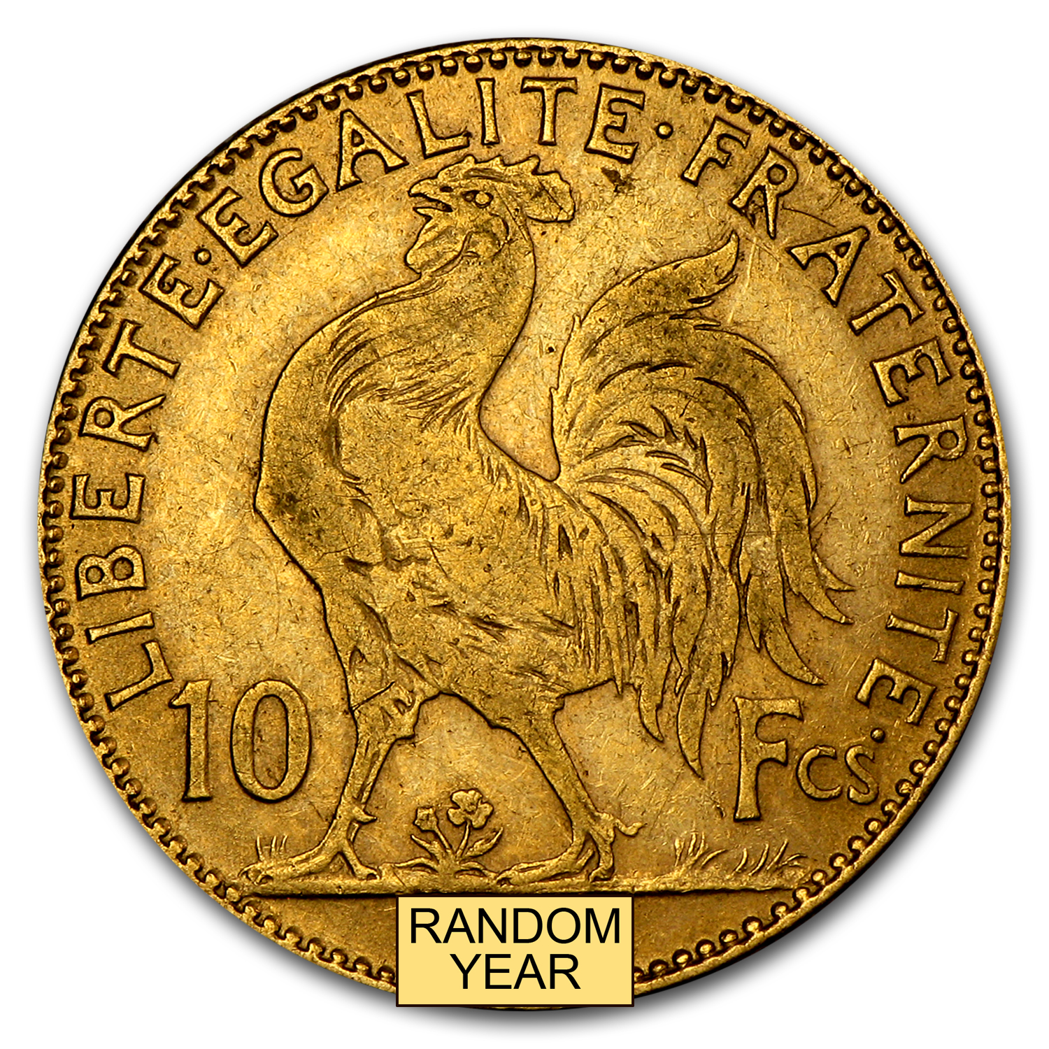 France Gold 10 Francs Rooster Average Circ
