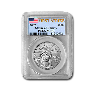 2007 1 oz Platinum American Eagle MS-70 PCGS (First Strike)