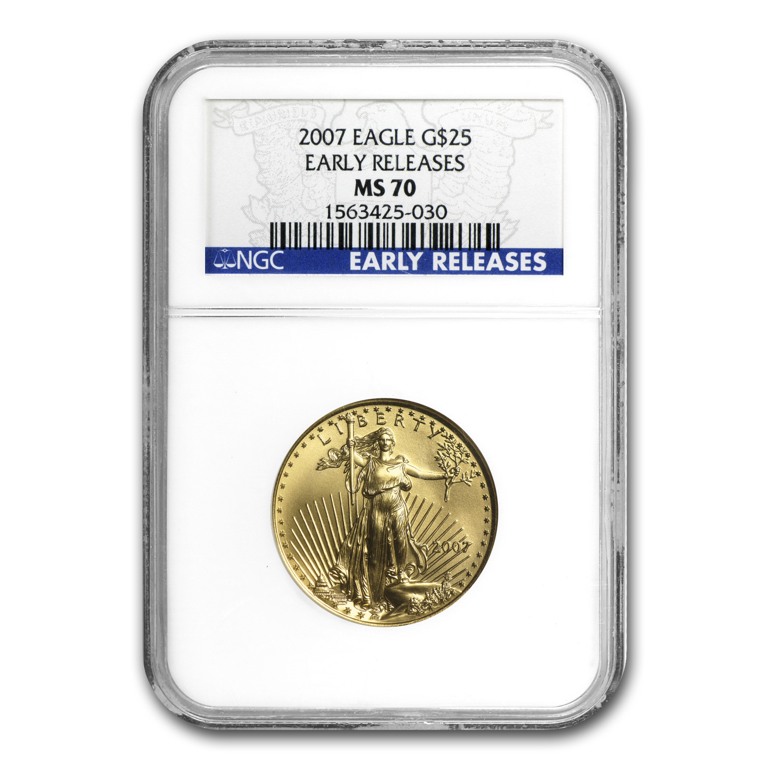 2007 1/2 oz Gold American Eagle MS-70 NGC (Early Releases)