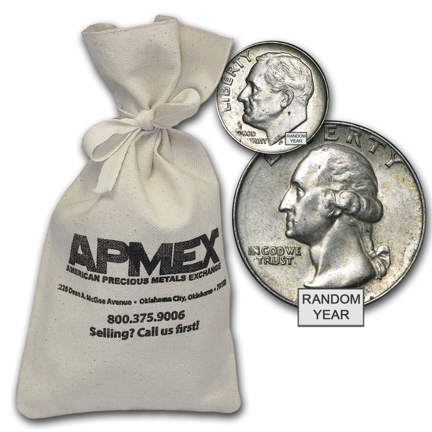 90% Silver Coins - $500 Face-Value Bag