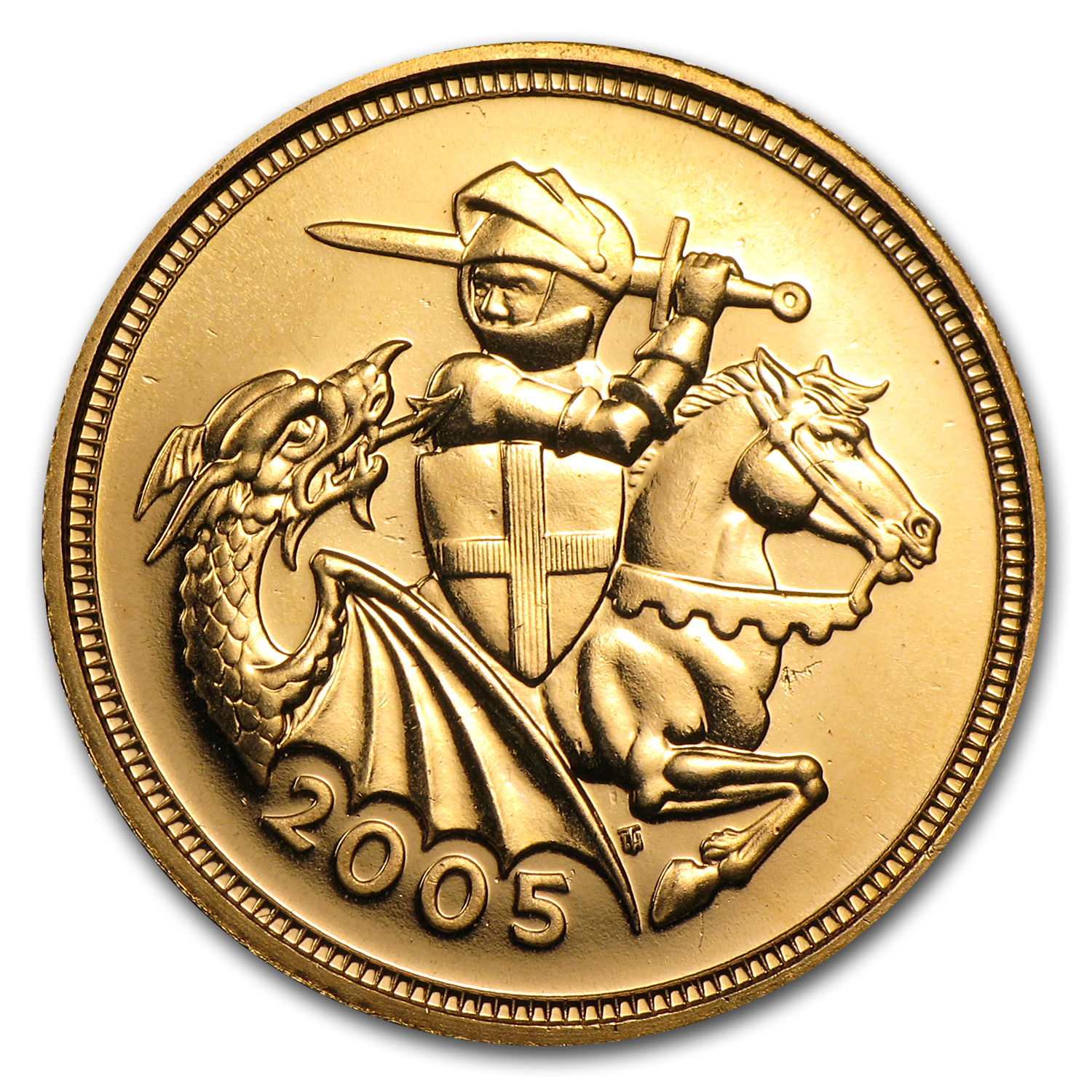 2005 Great Britain Gold 1/2 Sovereign Updated St George