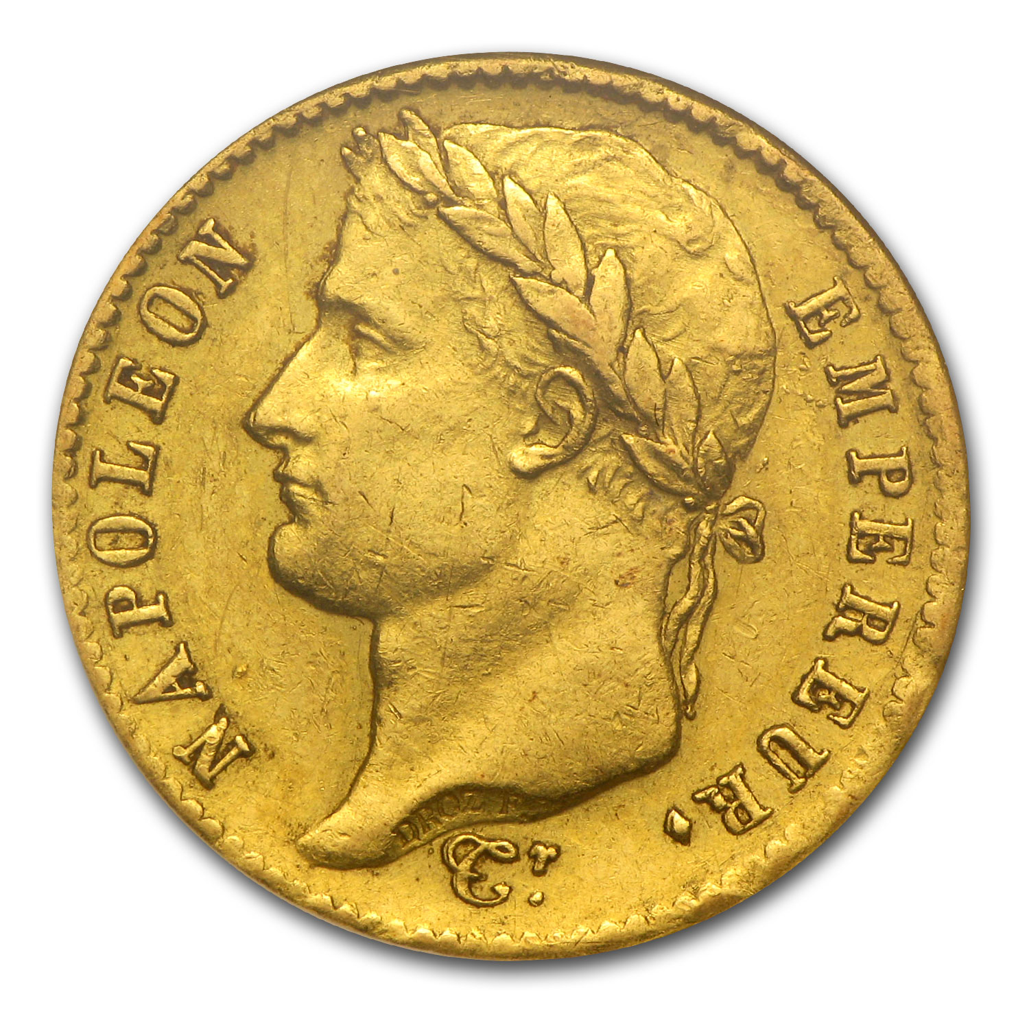 1809-1814 France Gold 20 Francs Napoleon I AU