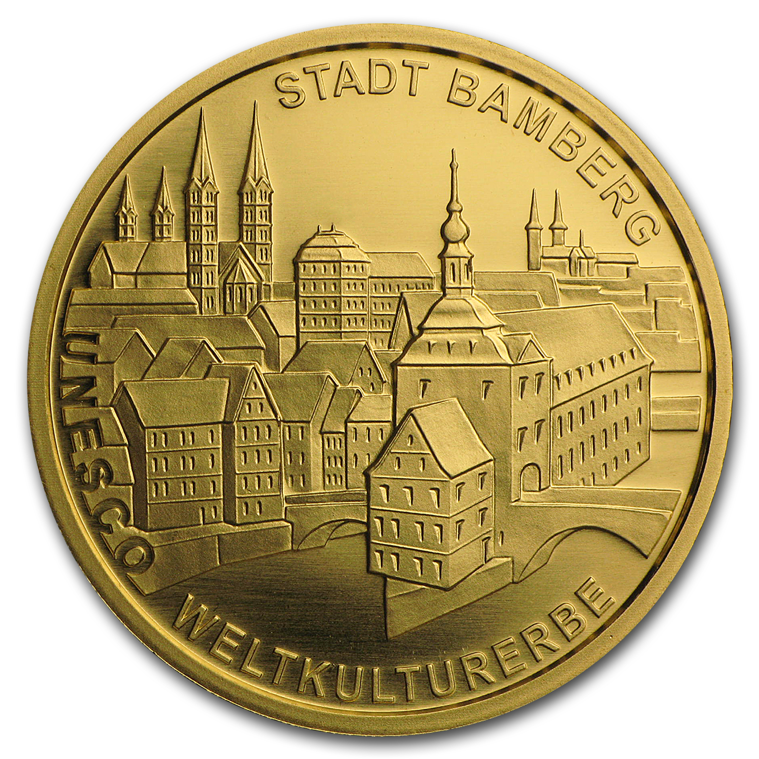 2004 Germany 1/2 oz Gold 100 Euro Bamberg BU