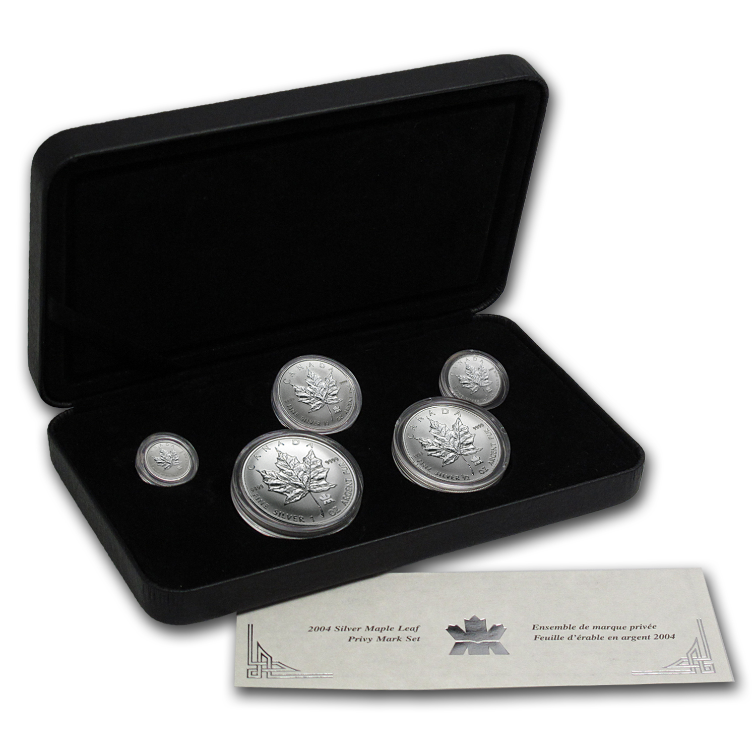 2004 5-Coin Silver Canadian Maple Leaf Set (RCM Privy)