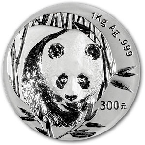 2003 (Kilo Proof) Silver Chinese Panda (W/Box & Coa)