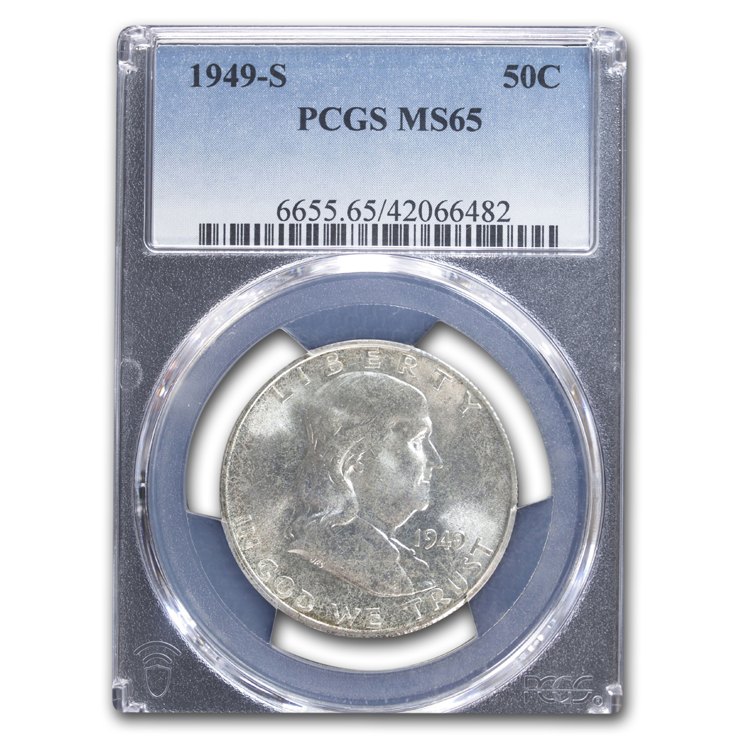 1949-S Franklin Half Dollar MS-65 PCGS