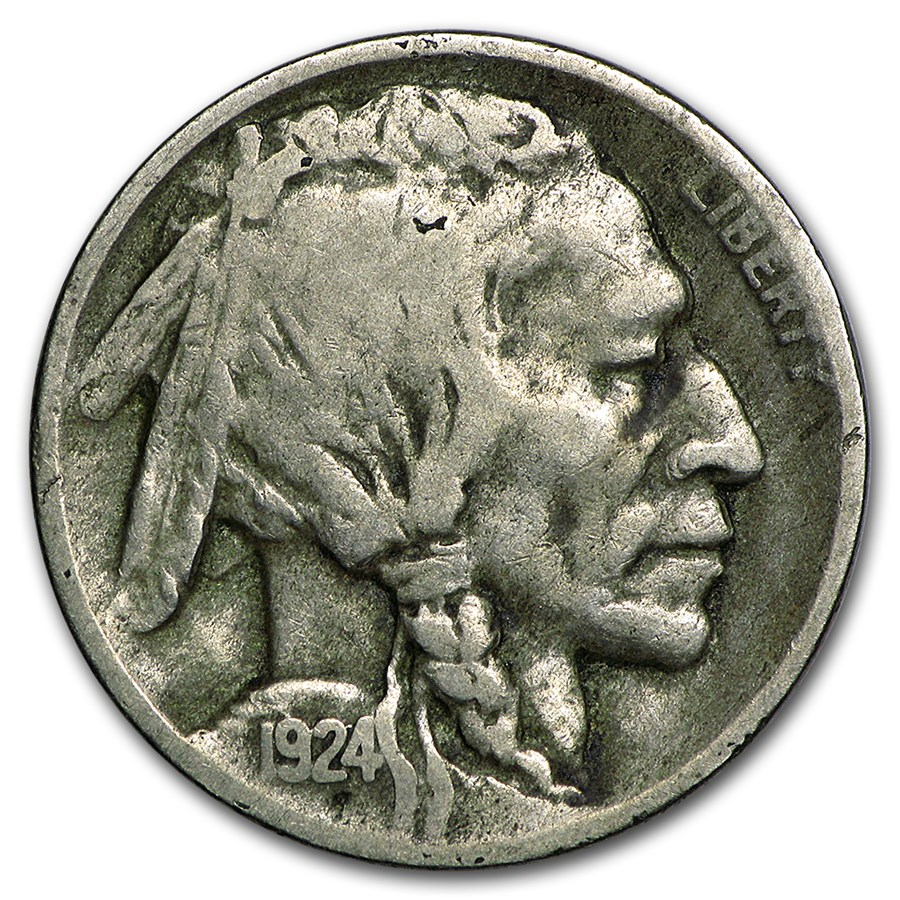 1924 D Buffalo Nickel Vf Buffalo Nickels 1913 1938