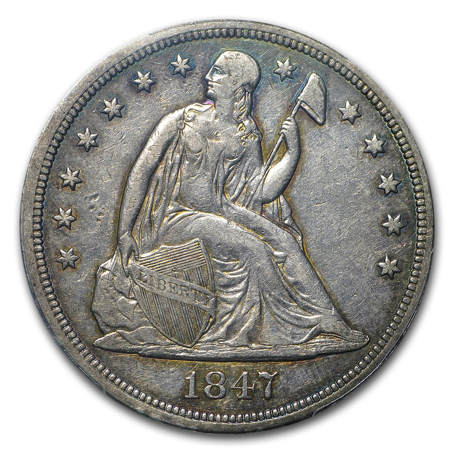 1847 Liberty Seated Dollar XF-40 PCGS