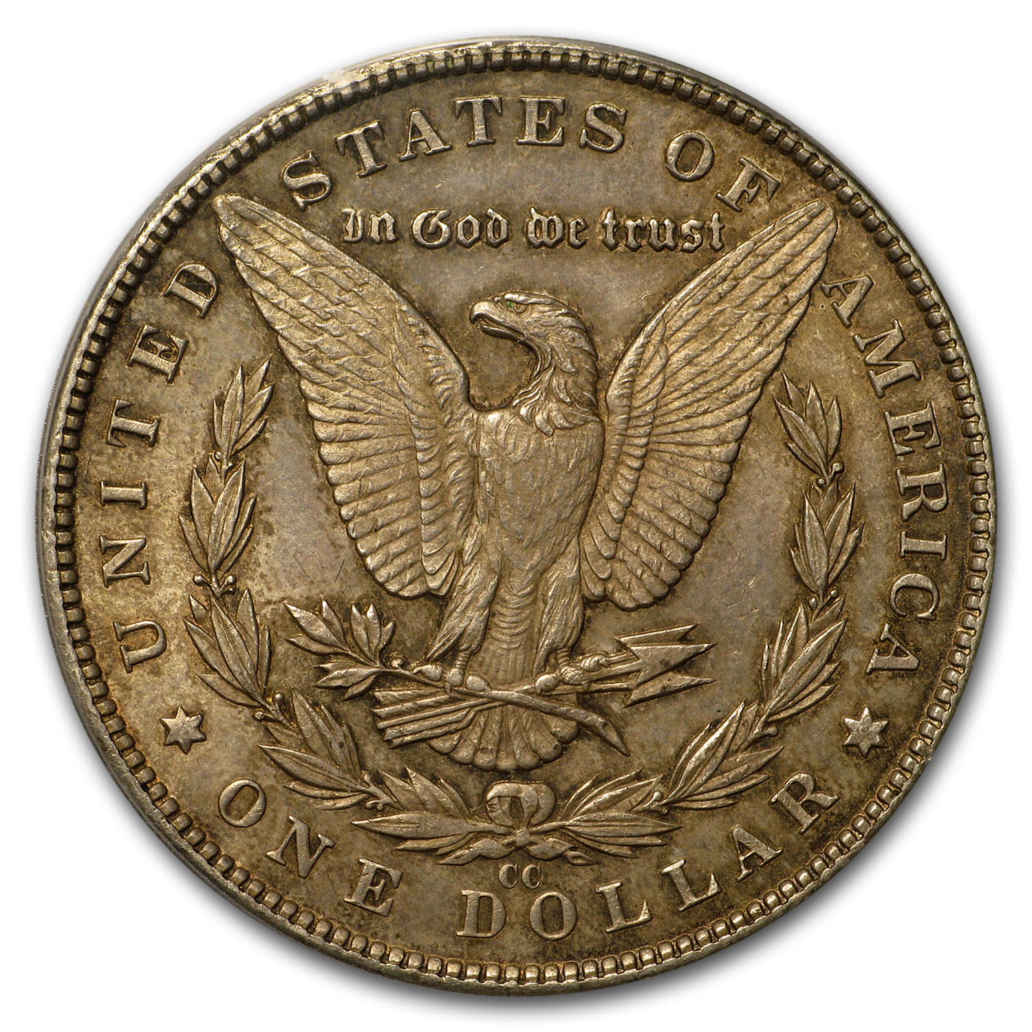 1890-CC Morgan Dollar AU-58 PCGS