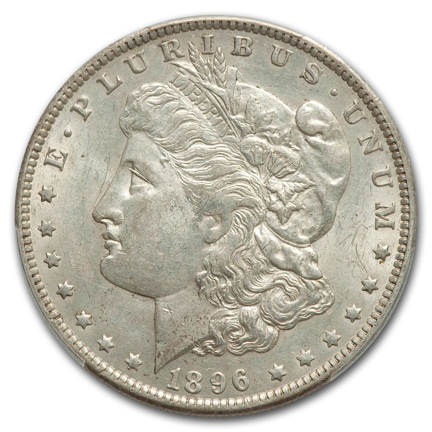 1896-O Morgan Dollar Almost Uncirculated-58 PCGS