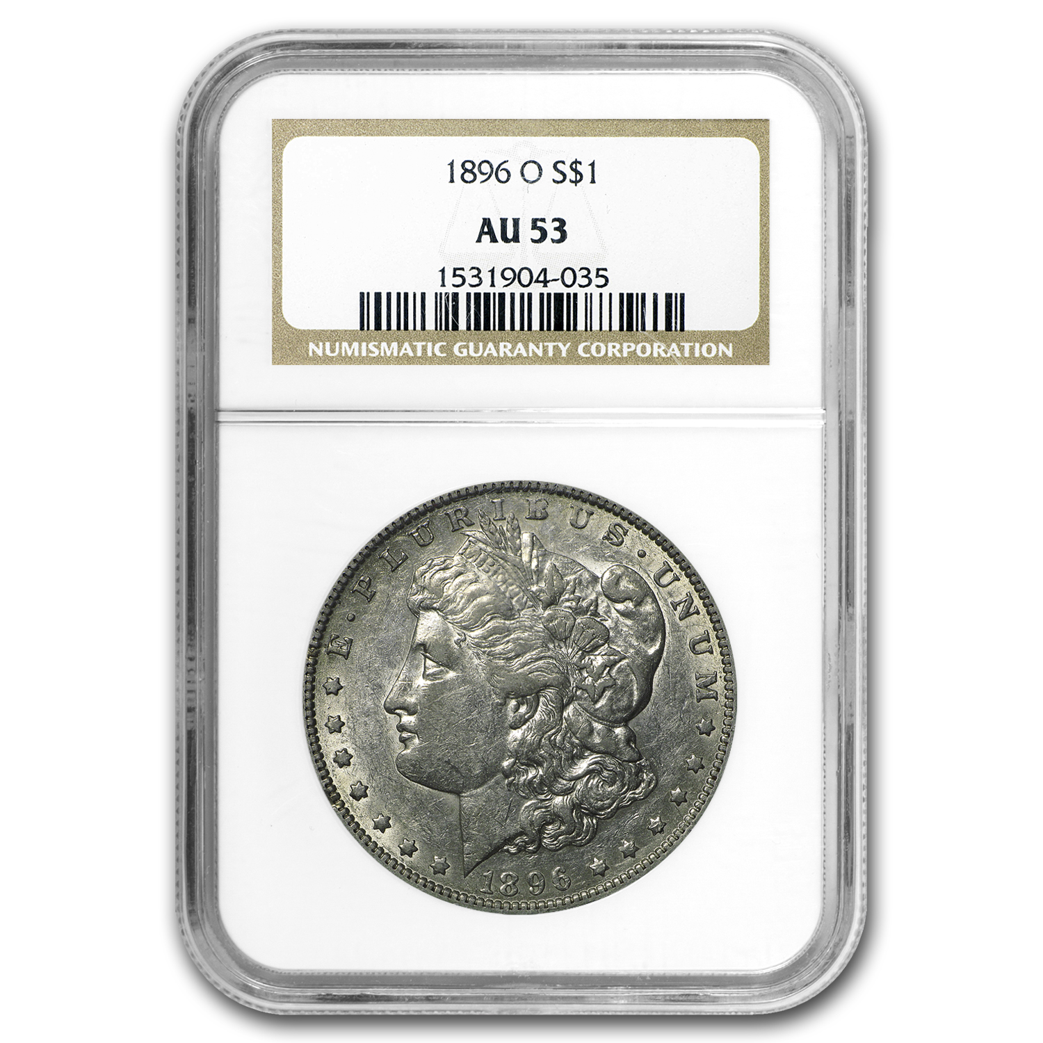 1896-O Morgan Dollar AU-53 NGC