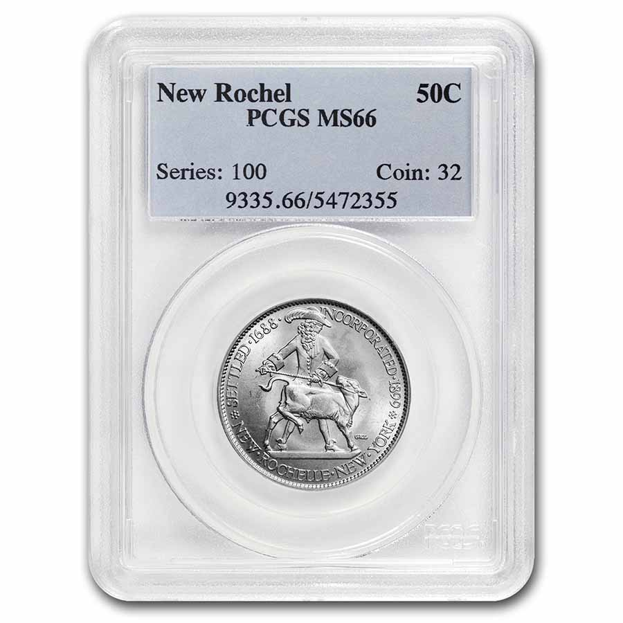 1938 New Rochelle Half 250th Anniversary MS-66 PCGS
