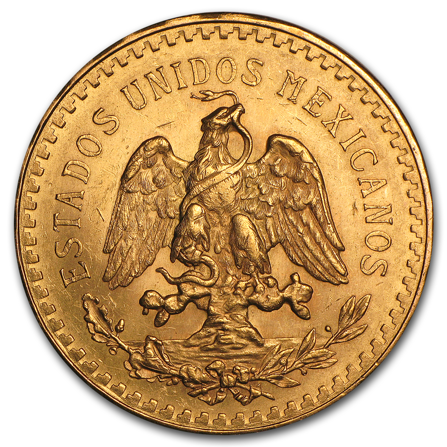 1929 Mexico Gold 50 Pesos AU