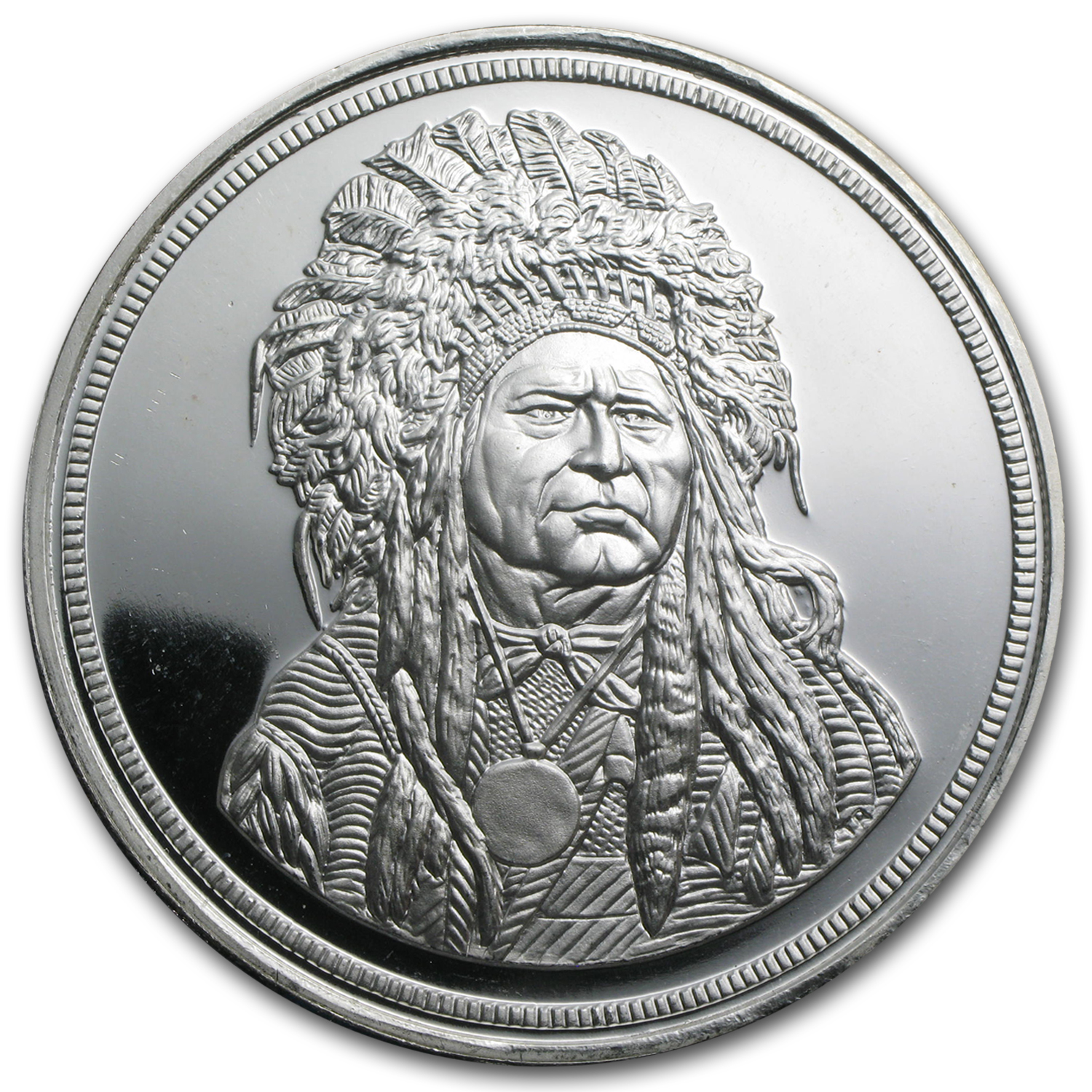 5 oz Silver Round - Running Antelope (The Silver Chief)
