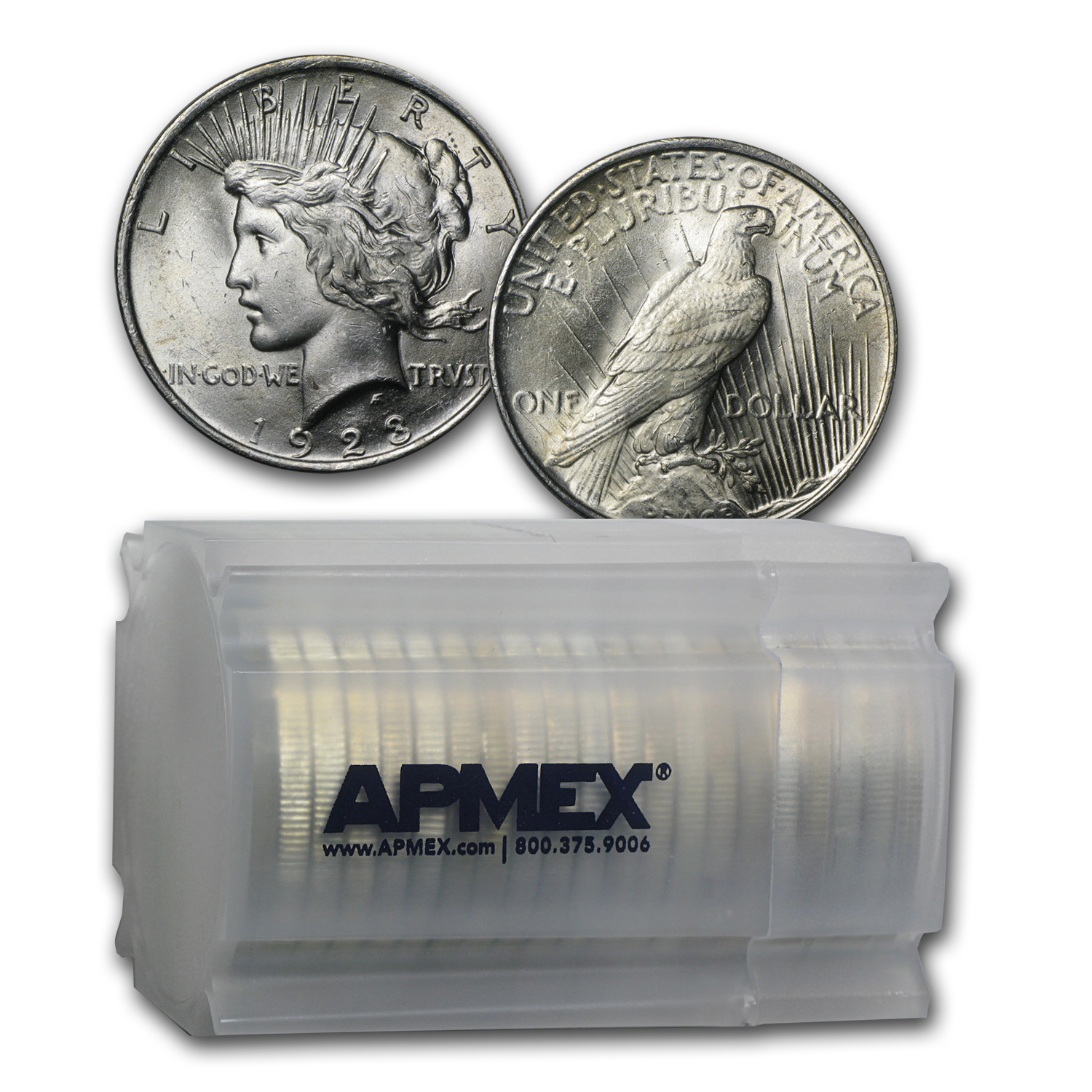 1923 Peace Dollar BU (20-Coin Roll)