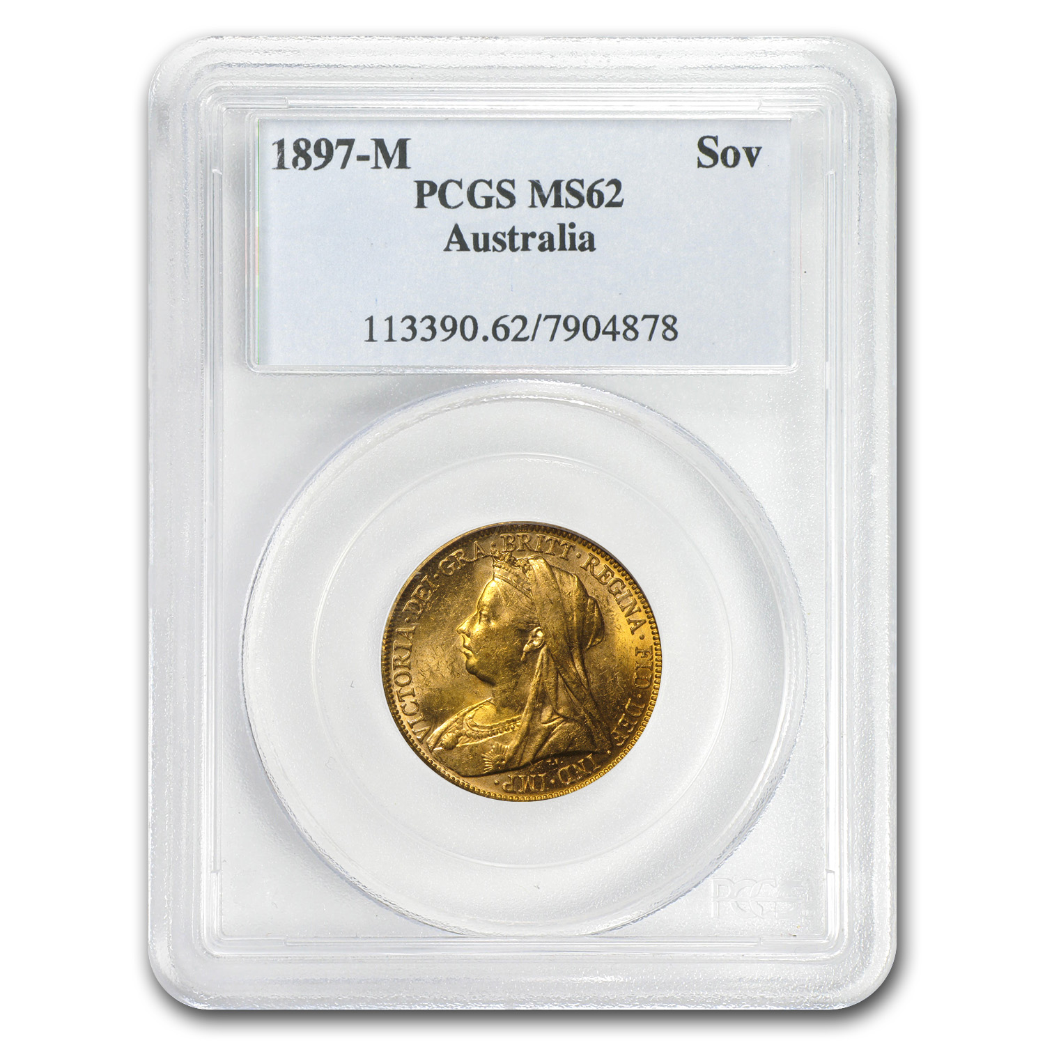 1893-1901 Australia Gold Sovereign Victoria MS-62 NGC/PCGS