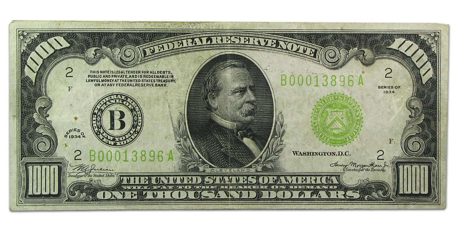 1934 (B-New York) $1,000 FRN (Very Fine) LGS