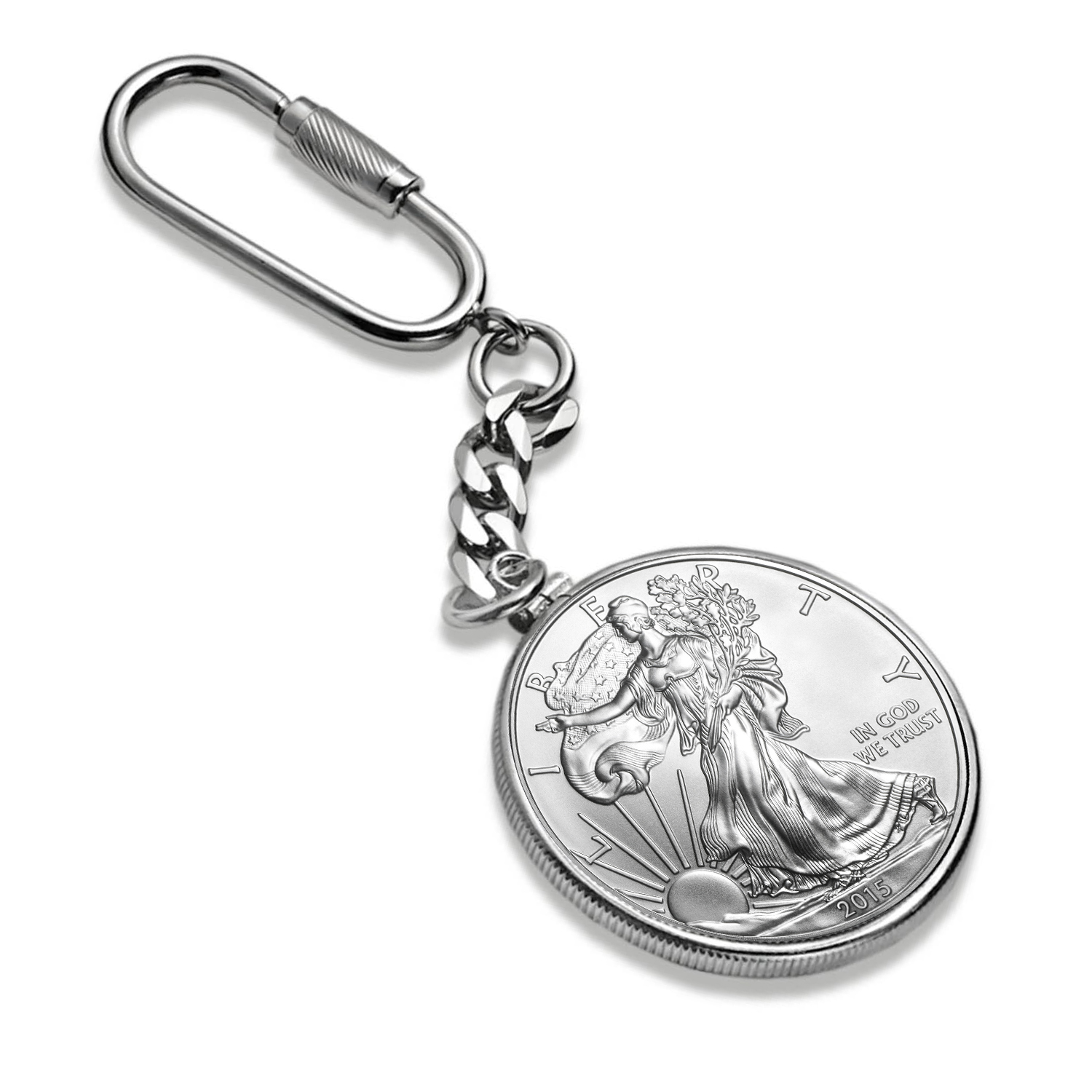 Sterling Silver Key Ring - For Silver Eagle