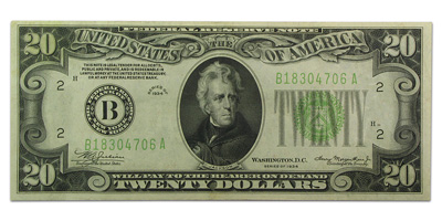 1934 (B-New York) $20 FRN XF