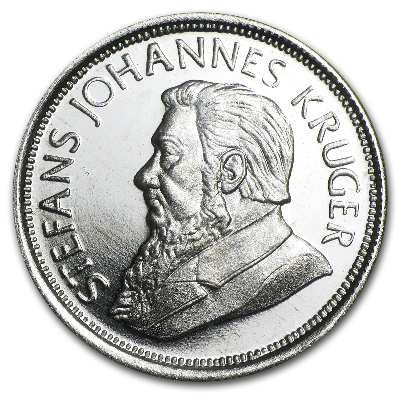 1 Oz Silver Round Krugerrand Commemorative 1 Oz
