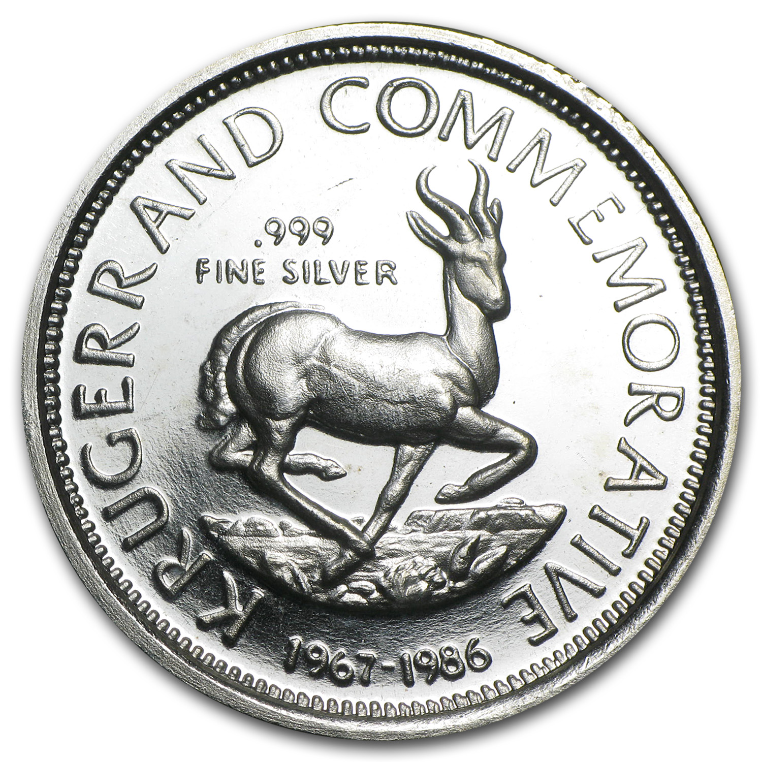 1 oz Silver Rounds - Krugerrand Commemorative