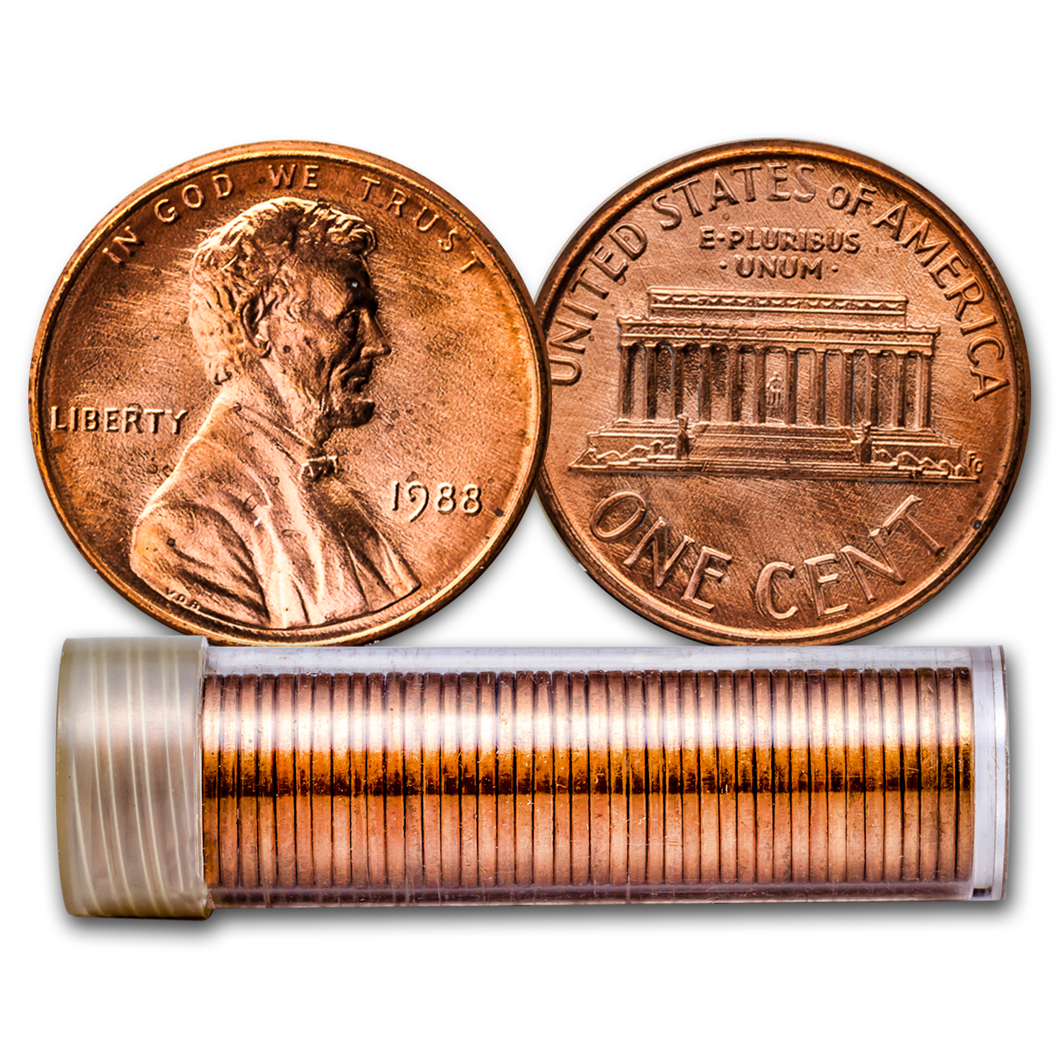 1988 Lincoln Cent 50-Coin Roll BU