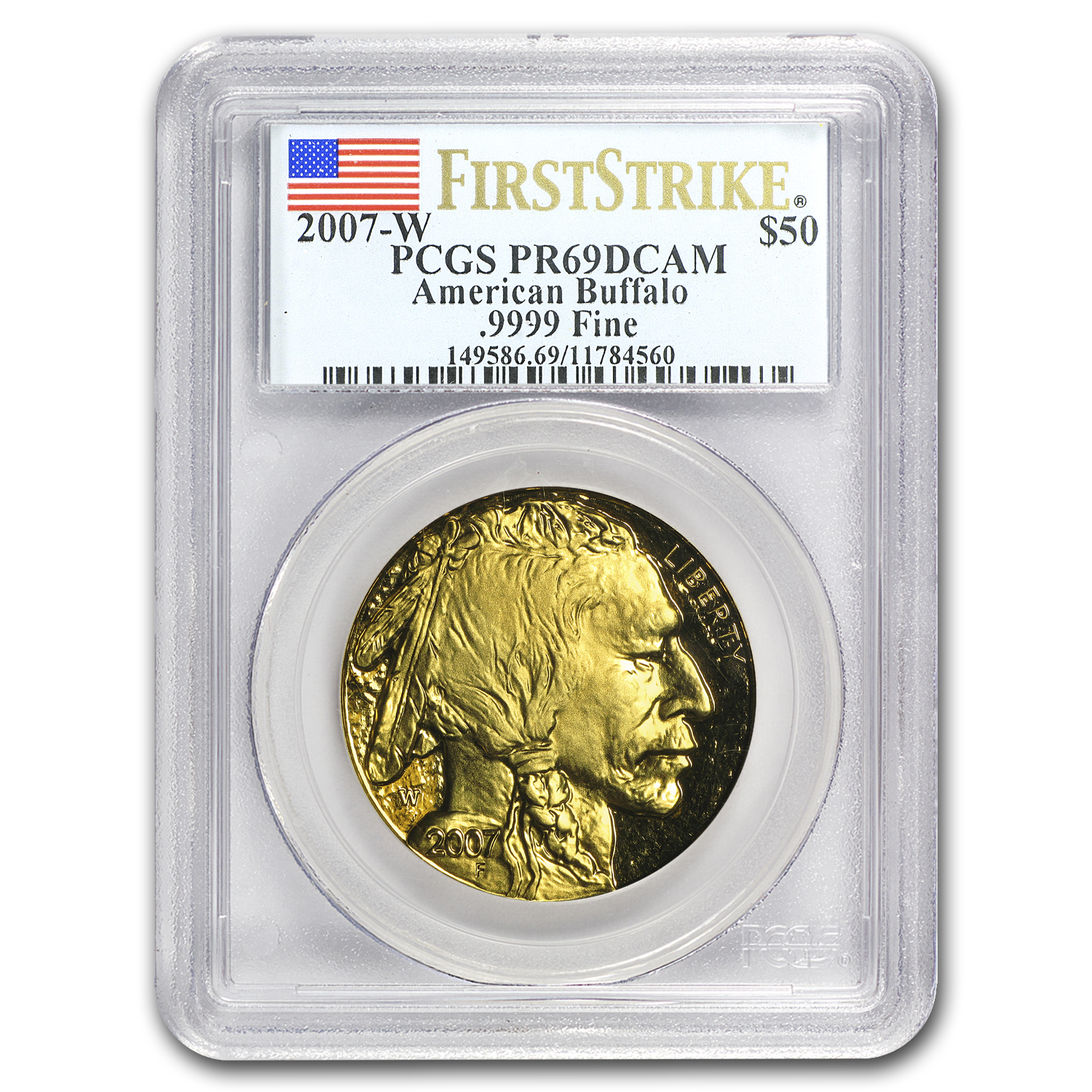 2007-W 1 oz Proof Gold Buffalo PR-69 PCGS (First Strike)