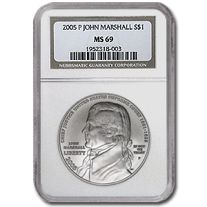 2005-P Chief Justice Marshall $1 Silver Commemorative MS-69 NGC