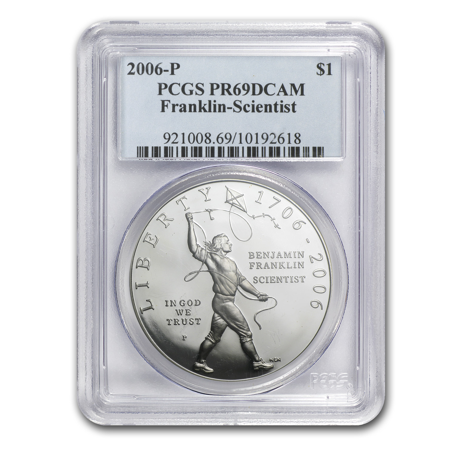 2006-P Ben Franklin Scientist $1 Silver Commem PR-69 PCGS
