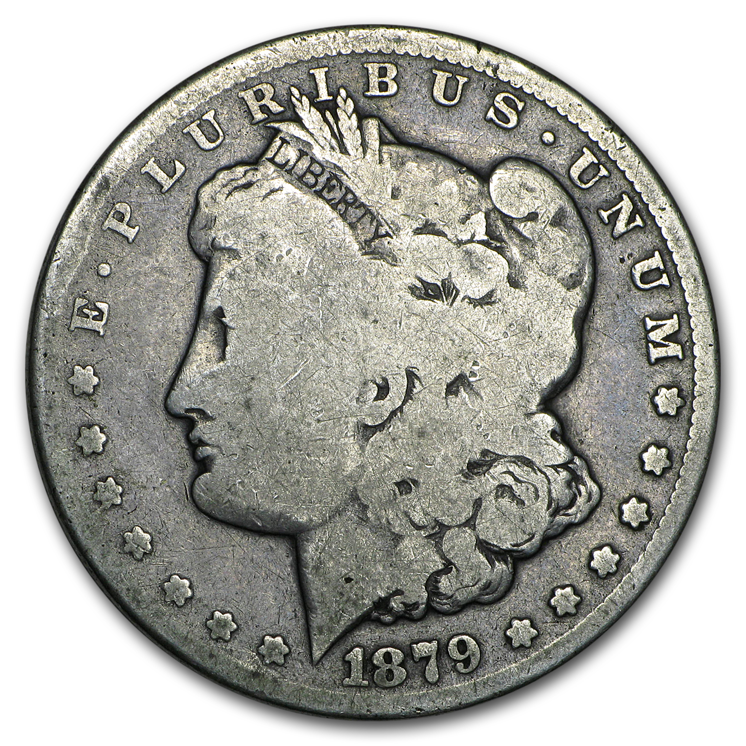 1879-CC Morgan Dollar Clear CC Good