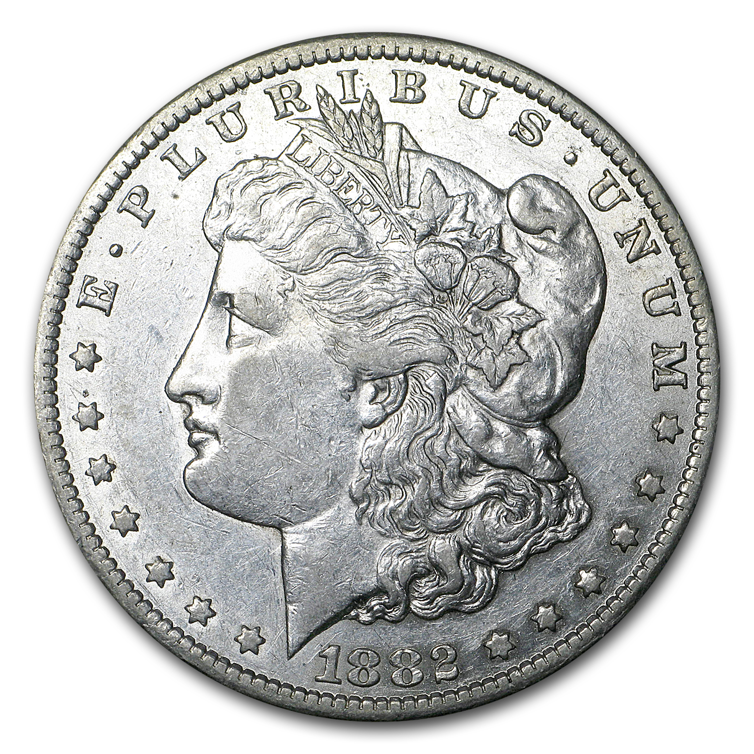 1882-CC Morgan Dollar AU